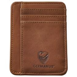 GERMANUS Albrunus Kreditkartenetui - Made in EU - Leder Etui für Kreditkarten und Visitenkarten