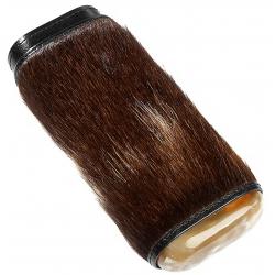 Leder Zigarren Etui für 3 Zigarren aus Leder mit Fell und Horn
