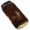 Leather Cigar Case from genuine Leather with Fur and Horn for 3 Cigars