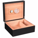 2nd Choice: GERMANUS Classic 43 Cigar Humidor in Black with Leather Cover