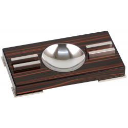 GERMANUS Zigarren Aschenbecher mit 2 Ablagen aus Holz