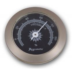 Hygrometer als Ersatz für Humidor 50 mm, Silber Schwarz