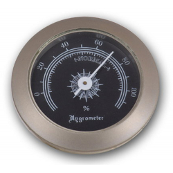 Hygrometer Replacement for Humidor 50 mm, Silver Black