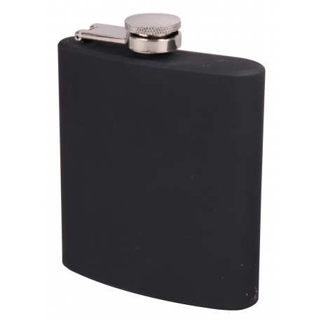 GERMANUS Pocket Flask with Coating from Stainless Steel in Black
