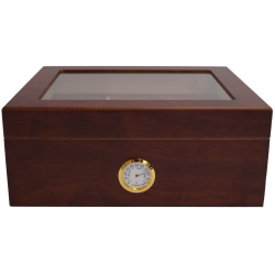 GERMANUS Humidor Classic Desk, Braun für ca. 50 Zigarren