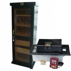 Great GERMANUS Humidor Cabinet + Cigar Oasis Magna Humidifier