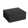 GERMANUS Classic 43 Cigar Humidor in Black with Leather Cover
