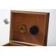 B Ware: GERMANUS Zigarren Humidor für ca. 50 Zigarren, dunkelbraun, ohne Teiler