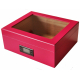GERMANUS Pink Cigar Humidor with Digital Hygrometer for ca 50 cigars