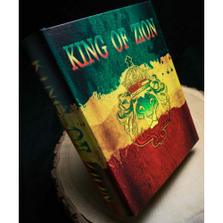 "Kavatza Book Box ""King of Zion"" for all your Cigarette Rolling Equipment"