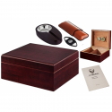 2nd Choice: GERMANUS Cigar Humidor Set in Black with Hygrometer and Accessories for ca 50 cigars in Black