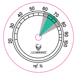 GERMANUS Hygrometer als Ersatz für Humidor 43 mm