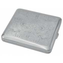 GERMANUS Cigarette Case with Genuine Silver - Made in Germany - Design Persian / Venetian Engraving