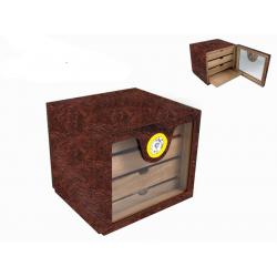 GERMANUS Cigar Humidor Cabinet: Cube basic, Brown