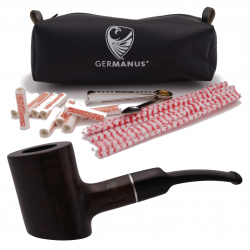 GERMANUS Pipe Poker , smooth, braun
