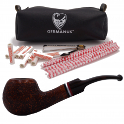 GERMANUS Tobacco Pipe 09S, Rhodesian Bent