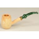Original Missouri Quality Corncob Pipe - Shape: Emerald