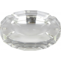 GERMANUS Large Solid Crystal Glass Cigar Ashtray, round