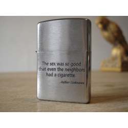 Zippo Lighter - The sex was soo good that even the neighbors smo