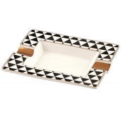 GERMANUS Zigarrenascher aus echtem Porzellan - Dreieck