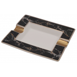 GERMANUS Porcelain Cigar Ashtray from Genuine Procelain - Marble Light