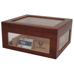 Humidor Chest Oro with Windows on Side Brown