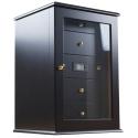 GERMANUS Humidor Chest Viadrus Black for ca. 400 Cigars, Black