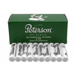 Peterson Charcoal Pipefilter - 9 mm, 40 Filters