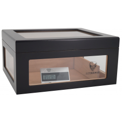 Humidor Chest Oro with Windows on Side Black