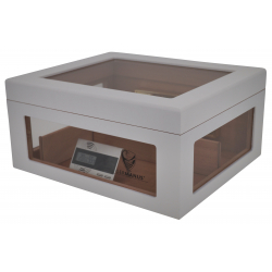 Humidor Chest Oro with Windows on Side White 004