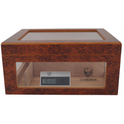 Humidor Chest with Windows on Side Brown 004