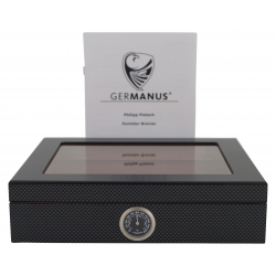 GERMANUS Mensalla Cigar Humidor for Cigars Carbon