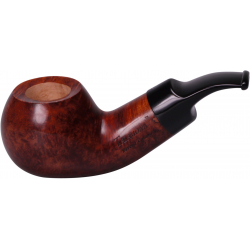 Talamona Reverse Calabash Pipe, brown, smooth 2