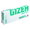 Gizeh Menthol Cigarette Tube 100 pc. with Menthol Flavour