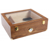 Special Offer: Humidor for ca. 100 Cigars in Brown with large Genuine Glass Window