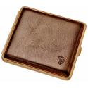 GERMANUS Cigarette Women's Case Metal with Calf Leather Application - Made in Germany - Design Gold Bronze Leder