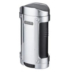 """GERMANUS Jetflame Lighter """"Kaventsmann"""" for Cigar in Silver"""