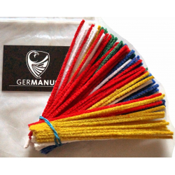 GERMANUS Pfeifenreiniger, 100 Stück, bunt