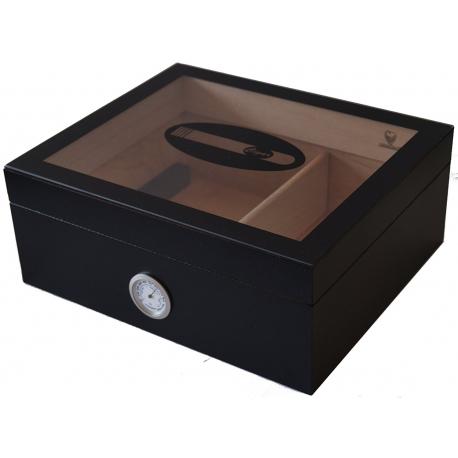 GERMANUS Cigar Humidor Black Beauty