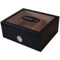 """GERMANUS Cigar Humidor """"Black Beauty"""" Classic for ca. 50 Cigars, Black"""