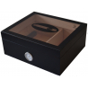 "GERMANUS Cigar Humidor ""Black Beauty"" Classic for ca. 50 Cigars, Black"