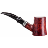 Pipe No. 17 with Meerschaum Inlay - self standing - Made in Italy